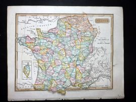 Clarke C1820 Hand Col Map. France